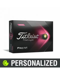 TItleist Pro V1 Pink Play Number Personalized Golf Balls - 2021