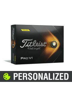 Titleist Pro V1 Personalized Yellow Golf Balls - 2021