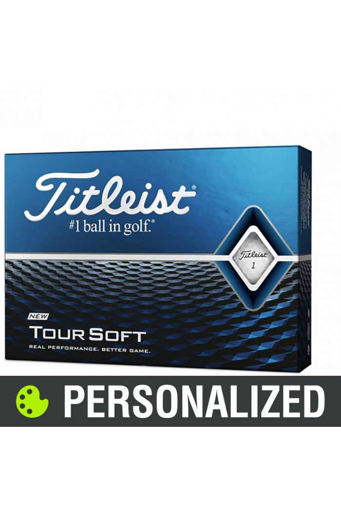 Titleist Tour Soft Personalized Golf Balls - White