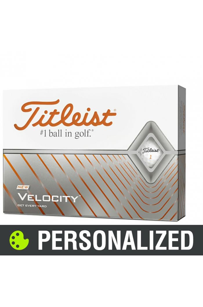 Titleist Velocity Personalized Golf Balls - White
